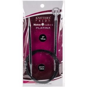 "Picture of Knitter's Pride-Cubics Platina Fixed Circular Needles 47""-Size 10.75/7mm"