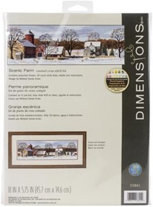 "Picture of Dimensions Counted Cross Stitch Kit 18""X5.75""-Scenic Farm (18 Count)"