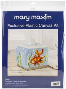 "Picture of Mary Maxim Plastic Canvas Tissue Box Kit 5""-Fish Bowl (7 Count)"