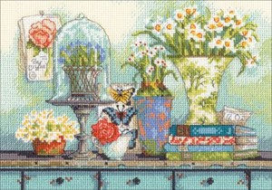 "Picture of Dimensions Gold Petite Counted Cross Stitch Kit 7""X5""-Garden Collectibles (18 Count)"