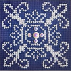 "Picture of Diamond Dotz Diamond Embroidery Facet Art Kit 6""X6"" White On Blue"