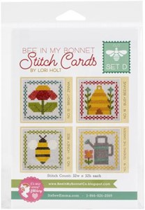 Picture of It's Sew Emma Stitch Cards 4/Pkg-Set D