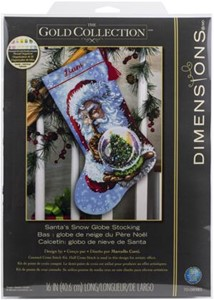 "Picture of Dimensions Counted Cross Stitch Kit 16"" Long-Santa's Snowglobe Stocking"