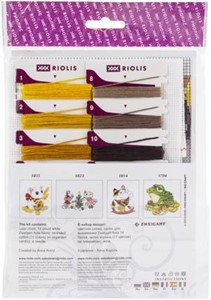 "Picture of RIOLIS Counted Cross Stitch Kit 6""X7""-The Leaf Gatherer (14 Count)"
