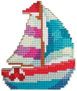 Picture of Collection D'Art Diamond Painting Magnet Kit 10.5x12.5cm-Sailboat