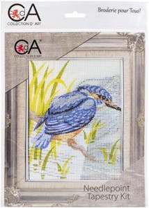 Picture of Collection D'Art Needlepoint Printed Tapestry Canvas 20X25cm-King Fisher