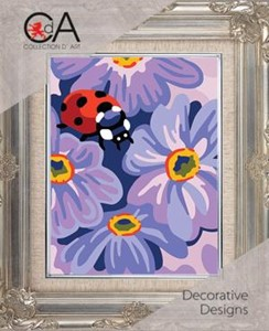Picture of Collection D'Art Stamped Needlepoint Kit 20X25cm-Ladybird And Flowers