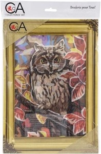 Picture of Collection D'Art Needlepoint Printed Tapestry Canvas 30X40cm-Owl