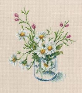 "Picture of RTO Counted Cross Stitch Kit 6.7""X6.89""-Warm Peace Of Bloomy Summer (14 Count)"