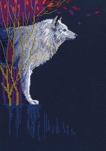 "Picture of RTO Counted Cross Stitch Kit 6.7""X9.7""-Wolf Leader (14 Count)"