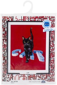 "Picture of RTO Counted Cross Stitch Kit 11.4""X11.8""-Cat (14 Count)"