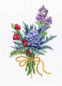 "Picture of RTO Counted Cross Stitch Kit 2.6""X5.7""-Forest Buttonholes (16 Count)"