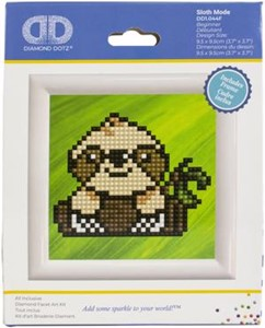 "Picture of Diamond Dotz Diamond Embroidery Facet Art Kit 3""X3""-Sloth Mode"