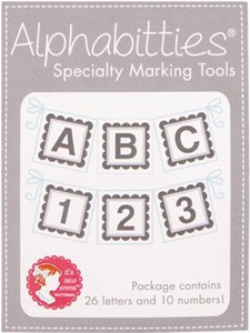 Picture of It's Sew Emma Alphabitties Pack-Gray