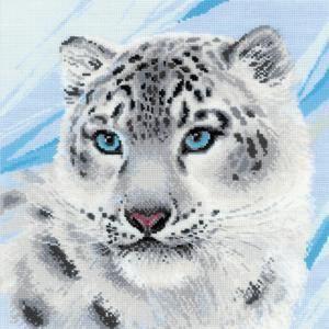 "Picture of RIOLIS Counted Cross Stitch Kit 11.75""X11.75""-Snow Leopard (14 Count)"