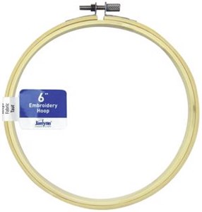 "Picture of Janlynn Wood Embroidery Hoop 6""-Natural"