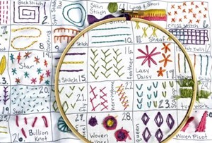Picture of Jennifer Jangles Embroidery Kit-30 Day Sampler