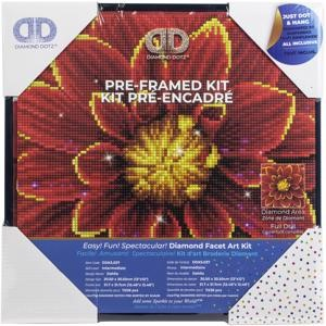 "Picture of Diamond Dotz Diamond Embroidery Facet Art Kit 12""X12""-Dahlia W/Frame"