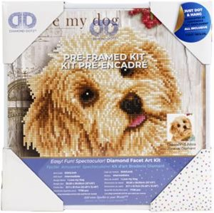 "Picture of Diamond Dotz Diamond Embroidery Facet Art Kit 12""X12""-I Love My Dog W/Frame"