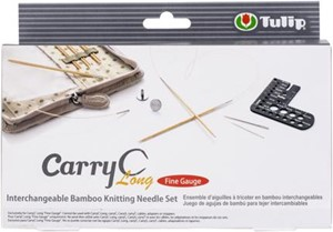 Picture of Tulip Carry C Interchangeable Bamboo Knitting Needle Set-Long Fine Gauge